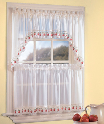 Apple Orchard kitchen curtain
