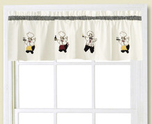 Cheers Chef Kitchen Curtain Valance