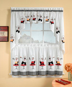 cheers chef kitchen curtain showing swag, valance and tier