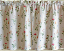 "English Garden 36"" kitchen curtain tier (pr)"