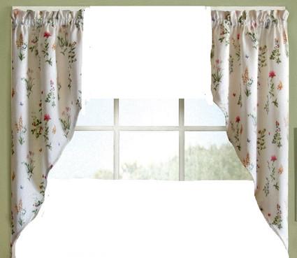 English Garden kitchen curtain swag (pr)