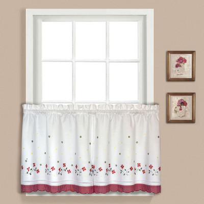 "Gingham Floral 36"" tier - Red"