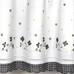 Gingham Floral Valance - Black