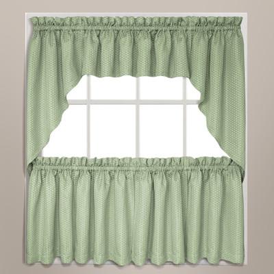 Hamden kitchen curtain in sage green