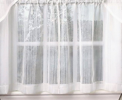 "Harmony 24"" kitchen curtain tier - White"
