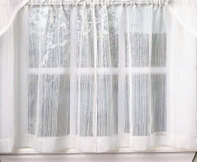 "Harmony 36"" kitchen curtain tier - White"