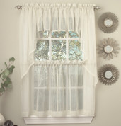 Harmony kitchen curtain in ivory