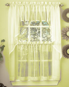 Harmony kitchen curtain in pale yellow