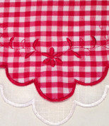 "Provence Gingham 24"" tier (pr) - Red"