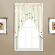 Rachael kitchen curtain Swag (pr) - Blue
