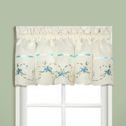 Rachael kitchen curtain Valance - Blue