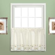 """Rachael kitchen curtain 24"""" tier (pr) - Taupe"""