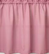 "Ribcord 24"" kitchen curtain tier - Blush"