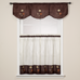 """Rose Embroidered 36"""" tier - Chocolate Brown"""
