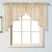 Savannah kitchen curtain Swag - Taupe