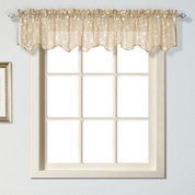 Savannah kitchen curtain Valance - Taupe