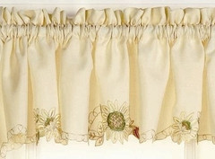 Sunflowers kitchen curtain valance