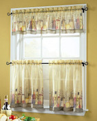 Tuscany sheer kitchen curtain