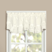 Vienna Eyelet Double Crescent Valance - Natural