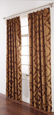Darby PINCH PLEATED Drape PAIR - Cafe Brown