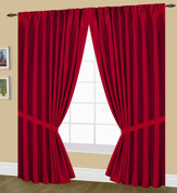 Elaine Pinch Pleated Drape PAIR - Red