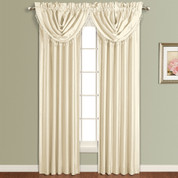 Anna Faux Silk Rod Pocket Curtain Panel - NATURAL