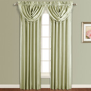 Anna Faux Silk Rod Pocket Curtain Panel - SAGE