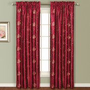 Avalon Rod Pocket Curtain - BURGUNDY