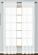 Batiste Semi-Sheer Rod Pocket Curtain - WHITE