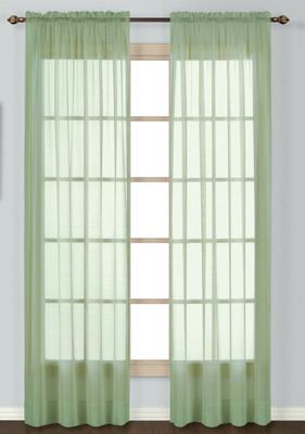 Batiste Semi-Sheer Rod Pocket Curtain - SAGE
