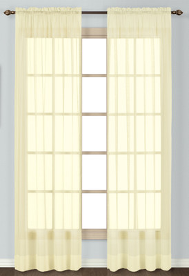 Batiste Semi-Sheer Rod Pocket Curtain - YELLOW