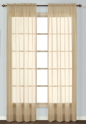 Batiste Semi-Sheer Rod Pocket Curtain - TAUPE