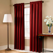 Blackstone Blackout Rod Pocket Curtain Panel - BRICK