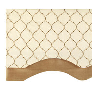Bleecker Scalloped Layered Valance - TRUFFLE