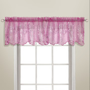 Bling Rod Pocket Valance - Pink