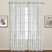 Bling Rod Pocket Curtain - White