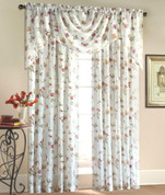Brewster Rod Pocket Curtain Panel - Available in Ivory or Antique