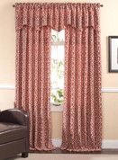 Bryce Rod Pocket Curtain Panel - Rust