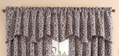 Bryce Scalloped Valance - Pewter