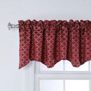 Claremont Scalloped Valance - GARNET