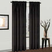 Cyndee Rod Pocket Curtain Panel - Black
