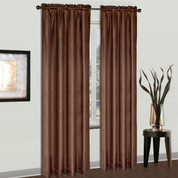 Cyndee Rod Pocket Curtain - Chocolate Brown