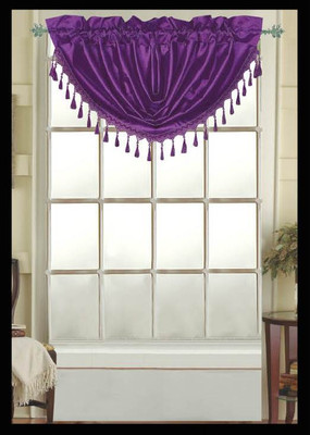 Elaine Fringed Valance - Purple