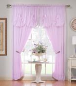 """Emelia Sheer Curtain Panel 63"""" long - Ecru"""