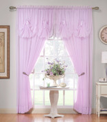"Emelia Sheer Curtain Panel 63"" long - Burgundy"