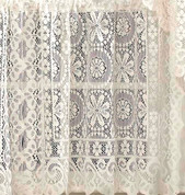 "Hopewell Lace Curtain Panel 63"" - Cream"