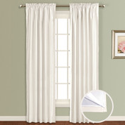 Lincoln Room Darkening Rod Pocket Panel - WHITE
