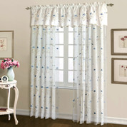 "Loretta Rod Pocket Curtain 84"" long - BLUE"