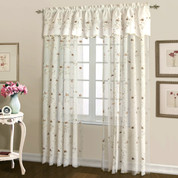 "Loretta Rod Pocket Curtain 84"" long - CHOCOLATE"