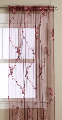 Mariana Rod Pocket Curtain - Burgundy